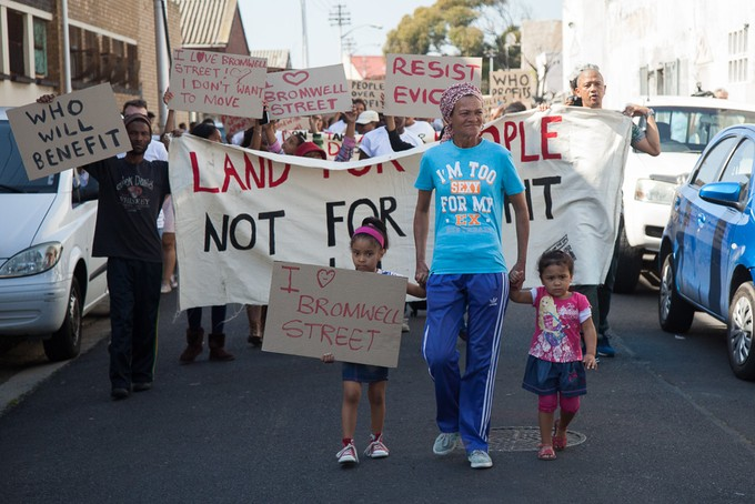 Photo of Bromwell Street protesters