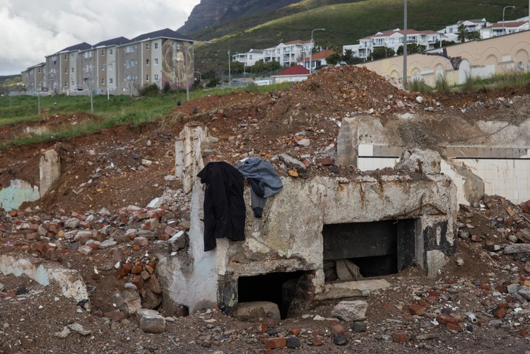 Long-buried houses revealed after diggers clear a site for housing in District 6 in Cape Town, South Africa. - Ashraf Hendricks