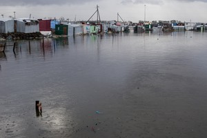Flooding at Waterfront Informal Settlement