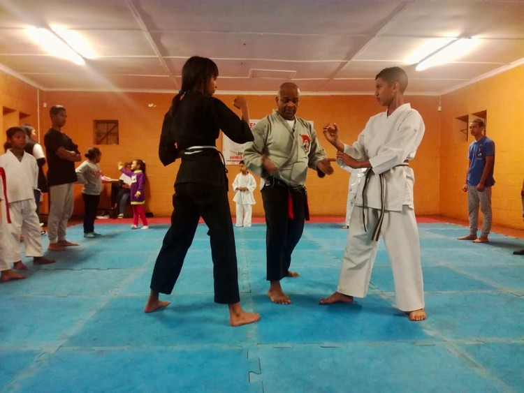 Photo of people practising karate