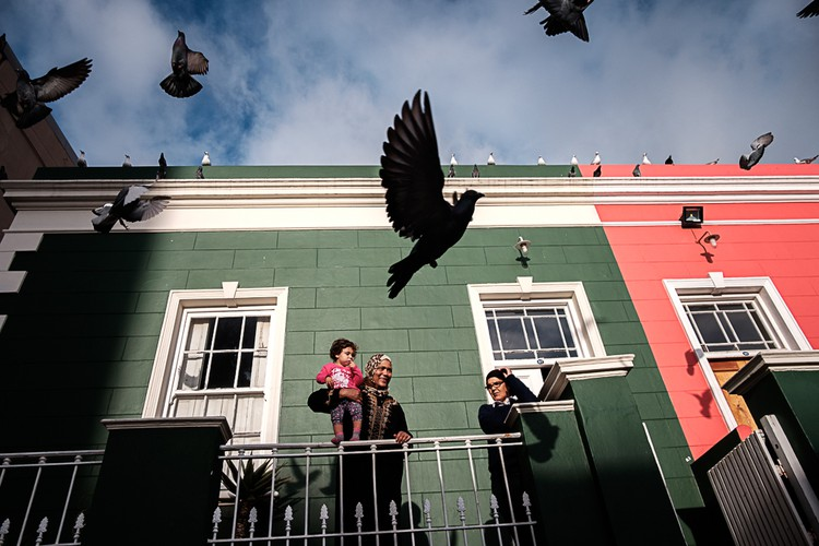 Photo of people at their homes in Bo-Kaap