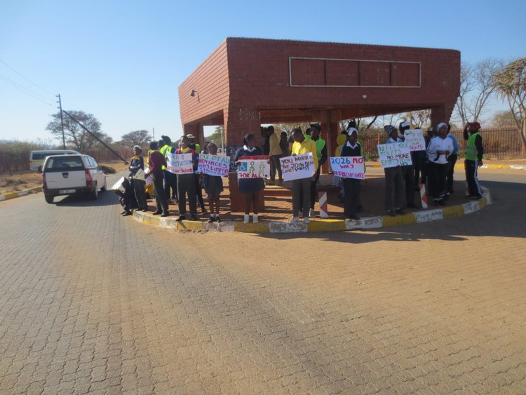 Photo of learners protesting