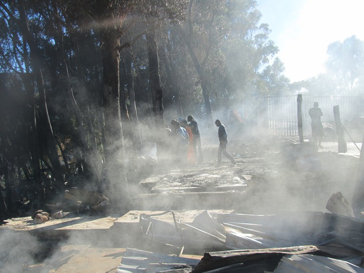 Photo of smoke at Imizamo Yethu