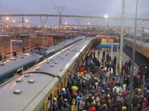 Photo of trains in Langa station