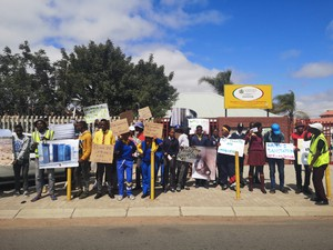 Photo of learners picketing