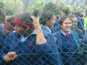Photo of Sans Souci girls protesting
