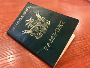 Photo of a Zimbabwean passport
