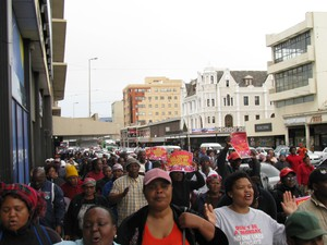Photo of workers marching