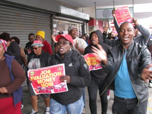 Photo of striking workers