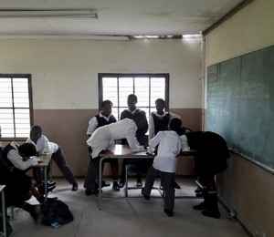 Photo of a classroom with learners in it