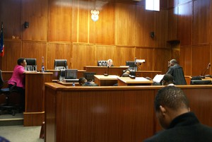 Photo of lawyer in court
