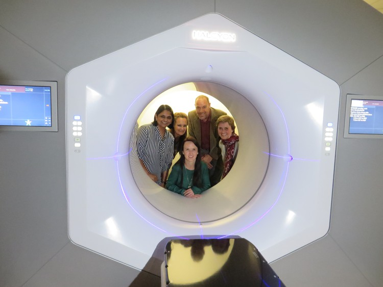 Photo of really cool radiotherapy machine
