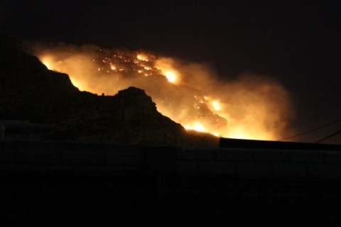 Photo of mountain fire