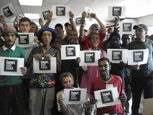 Durban drug users show support for last year's Support Don't Punish Campaign. Photo: Ian Broughton