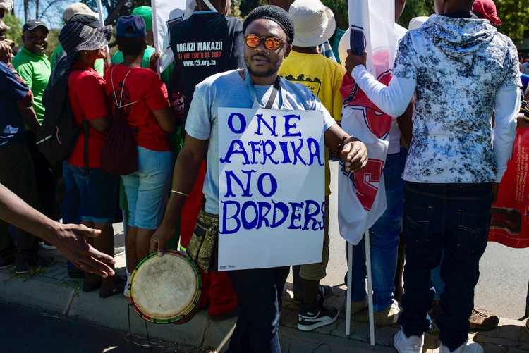 Photo of anti-xenophobia march