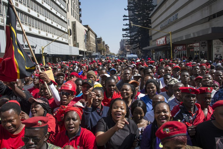 Photo of EFF protest