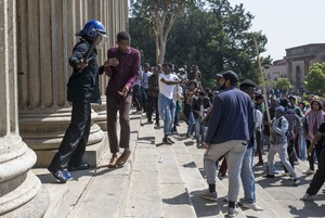 Photo of protest action on Wits