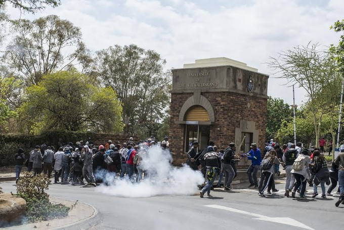 Photo of protests at Wits University