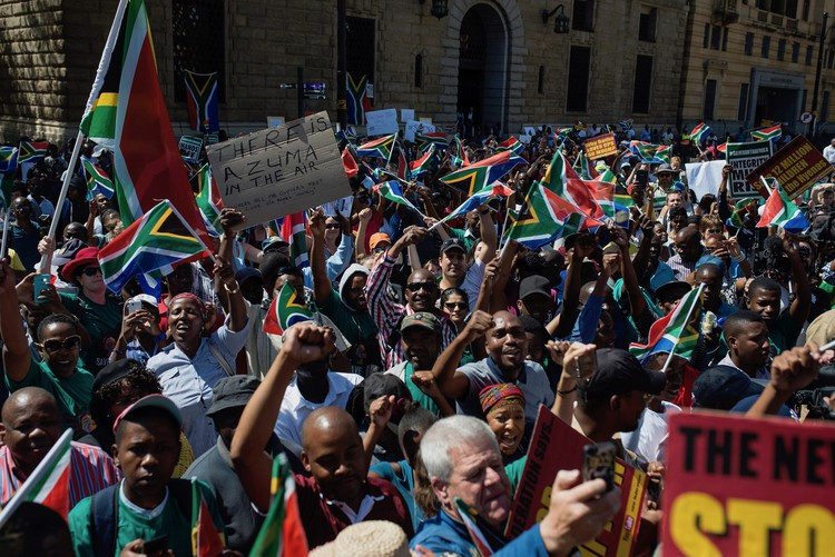 Photo of anti-Zuma protest