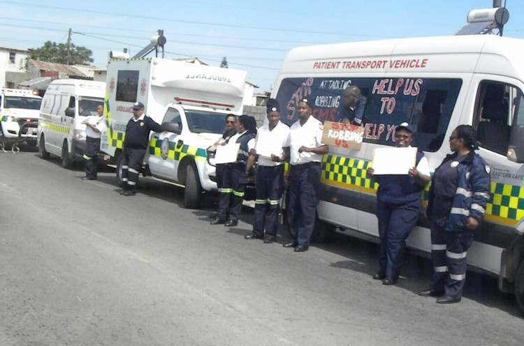 Photo of ambulances
