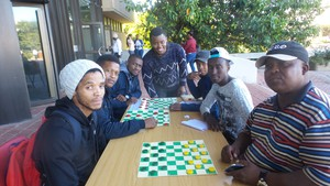Photo of draughts players