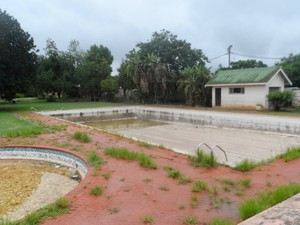 Photo of two empty swimming pools