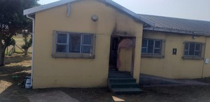 Photo of burnt municipal office