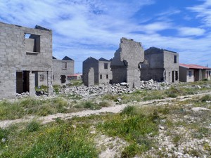 Photo of ruined buildings