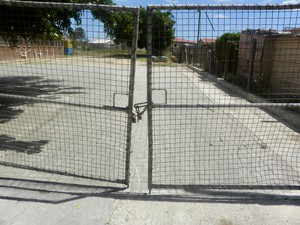 Photo of locked gates