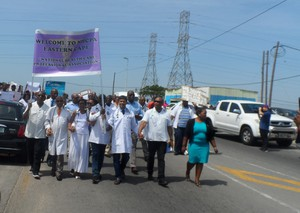 Photo of doctors protesting
