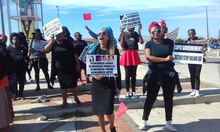 Photo of women marchers