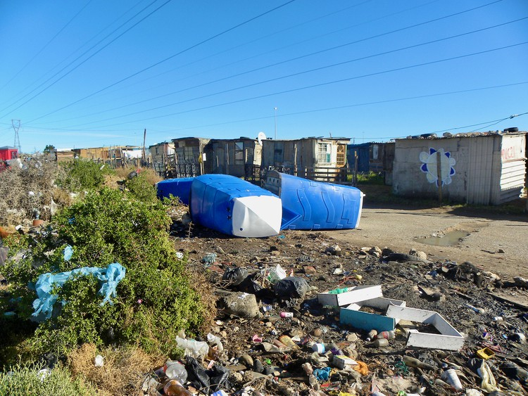 Photo of mobile toilets lying on the ground