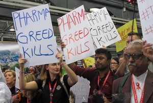 Photo of protest against pharmaceutical companies