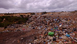 Photo of landfill site