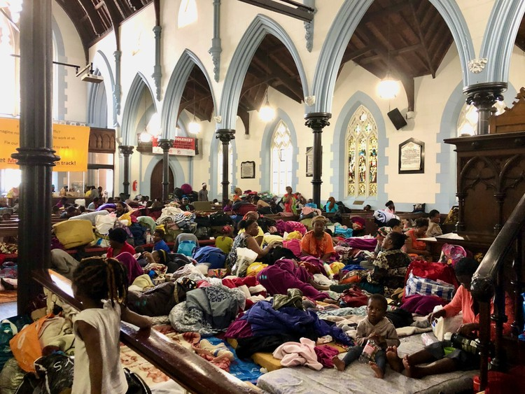 Hundreds of refugees have been living inside and outside the Central Methodist Mission in Cape Town for months. Archive photo: Madison Yauger