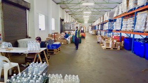 Photo inside a food warehouse