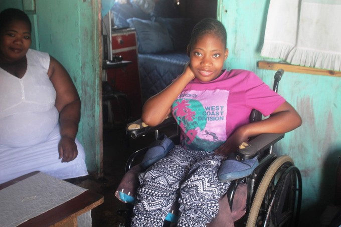 Photo of a girl in a wheelchair