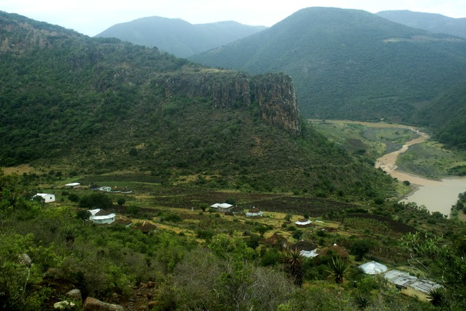View of Eastern Cape village