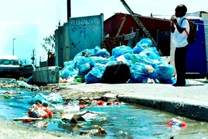 Photo of rubbish in Khayelitsha