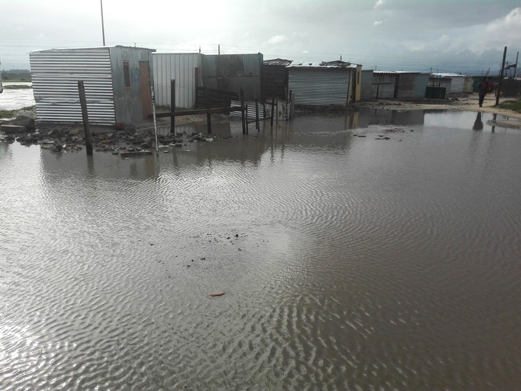 Photo of flooded area