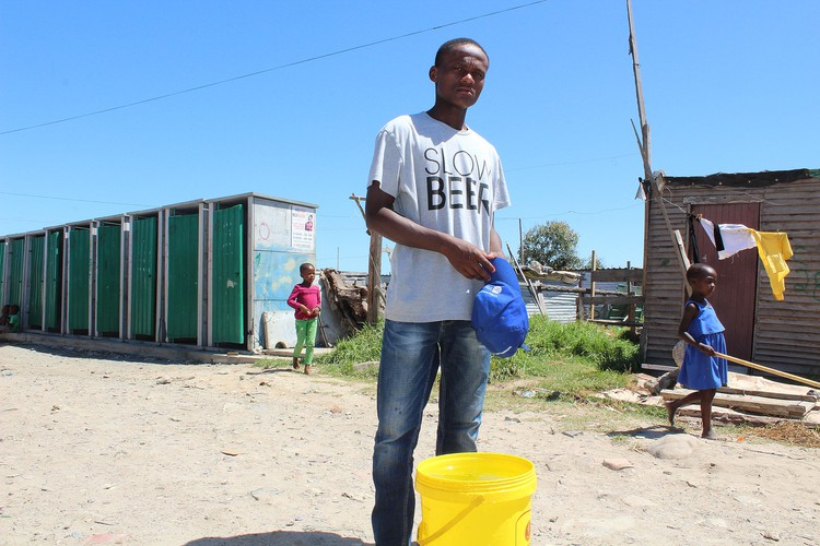 Luxolo Makhawuza has moved here from the Eastern Cape. He wants to do tertiary education this year.