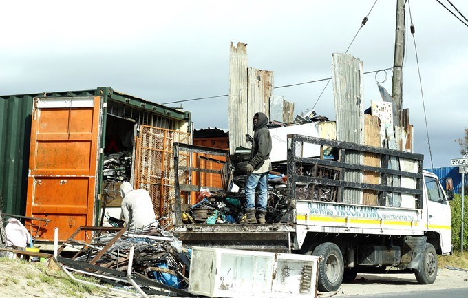 Photo of scrapyard in Mfuleni.