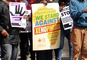 Photo of protest against xenophobia