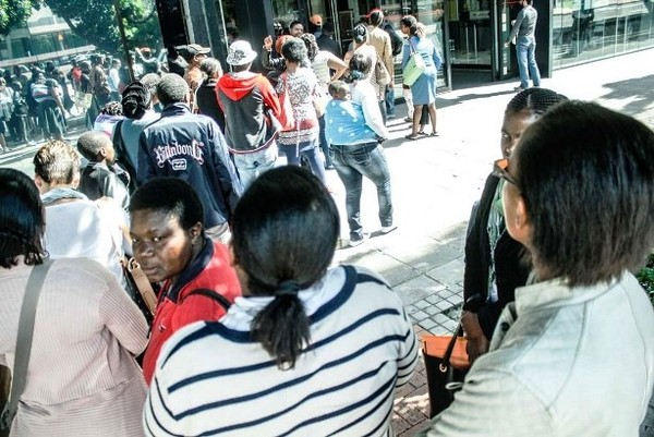 Photo of people in queue