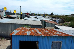 Photo of shacks