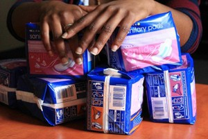 Photo of packets of sanitary pads