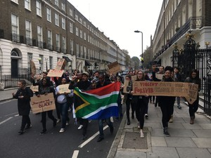 Photo of protest in London
