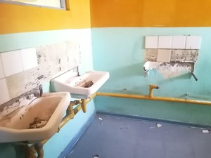 Photo of vandalised bathroom