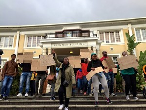 Photo of protest on UCT