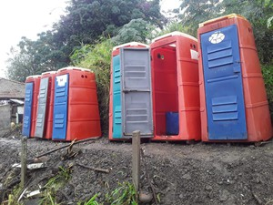 Photo of chemical toilets